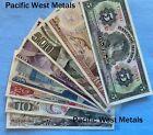 LOT 8 MEXICO PESO BANKNOTES SERIES 5, 5,10,20,50,100,500,1000 MEXICO BILLS UNC