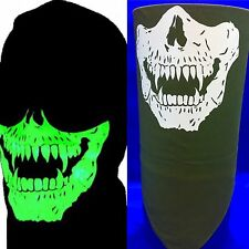 Velcro®Brand Adjustable Od Olive Green Glow In The Dark Vampire Skull Face Mask