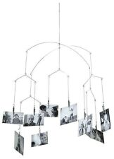 Kikkerland hanging mobile photo clips support pour 20 photos cartes postales notes