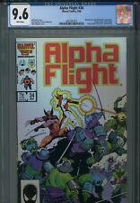 Alpha Flight 34 CGC 9.6 Mike Mignola Wolverine Lady Deathstrike Uncanny X-Men