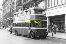 PHOTO  NOTTINGHAM CITY TRANSPORT TROLLEY BUS NO 480  KTV 480