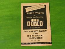 Hornby Dublo 2 rail 4-6-0 Cardiff Castle & 8F 2-8-0 Freight Loco instructions