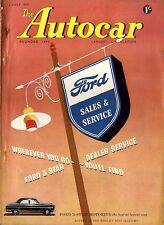AUTOCAR MAGAZINE 1954-2/7 DESCRIBED MERCEDES BENZ 180D - BARC EASTBOURNE RALLY