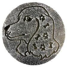 "Dog Mold plaster concrete resin casting garden mould 7.75"" x 3/4"""