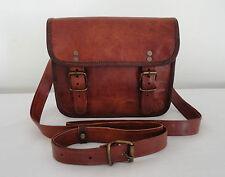 "7x9"" Handmade Real Leather Messenger Bag Passport / Camera / Travel Handbag"