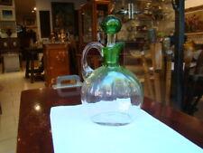 Flacon en verre 1900 dans le goût de ce que fabriquait Daum , non signé