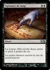 MTG Magic M13 FOIL - Sign in Blood/Signature de Sang, French/VF