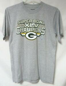 Green Bay Packers Mens Size M or L Super Bowl XLV Champions T-Shirt A1 2113