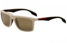 Authentic PRADA Sport Linea Rossa 02P - AAI1C0 Sunglasses Mirror Gray *NEW* 57mm