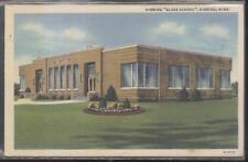 Postcard HIBBING Minnesota/MN  Park School w/Glass Block Windows Promo Ad 1940's