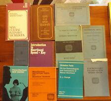 11 Pitman Shorthand Books Workbook Dictation Tests Shorthand Pocket Dictionary