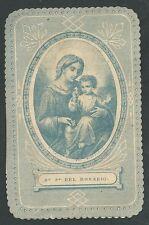 Estampa antigua Virgen del Rosario andachtsbild santino holy card santini