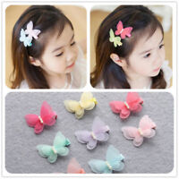Kids Baby Chiffon Butterfly Girls Princess Hair Pin Headwear Hair Clips 1Pair