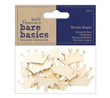 Crown - Wooden Shapes - 12pcs - Bare Basics