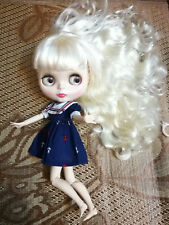 """12"""" Neo Blythe Doll Beige Hair With Bang From Factory Jointed Body Nude Doll"""