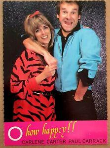 Carlene Carter & Paul Carrack - O How Happy!! 1981 Promo Post Card.  Nr Mint.