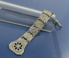 Art Deco Uhrenzipfel CHATELAINE Nickel um 1925 WATCH CHAIN