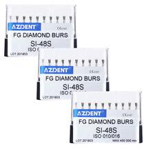 3X Dental Diamond Burs 45,000RPM High Speed Polishing Kit SI-48S 10pcs/box