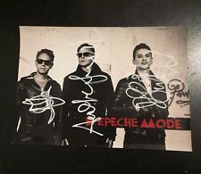Depeche Mode Photo 21x15 Signed By The Band Original Hand Signed!