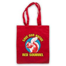 SAVE THE RED SQUIRREL PROTEST SLOGAN ANIMAL LOVER SHOULDER TOTE SHOP BAG