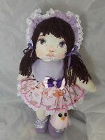 "Cloth Handmade Doll From Brazil 17"" Tall"