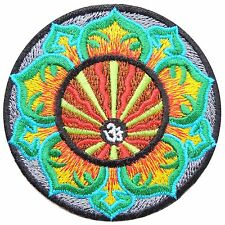 Aum Om Ohm Lotus Infinity Hindu Hindi Yoga Peace Karma Trance Iron on Patch 1747