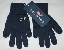 Vineyard Vines Gloves Youth Kids One Size O/S Deep Bay Blue Ribbed Cuff $45 NEW
