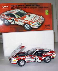 1/18 KYOSHO  FERRARI 365 GTB4 Competizione 1er GT Le Mans 1973 ref 08164F