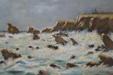 Huile sur Panneau, Bretagne, Signée Joseph Moy 1905-1992, Numérotée 107