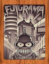Tin Sign Movie Futurama Bender Cartoon Attraction Art Poster