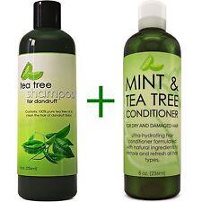 MAPLE HOLISTIC Tea Tree Oil Shampoo & Mint + Tea Tree Conditioner 100% NATURAL