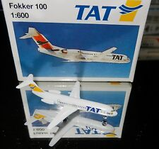 Schabak 1:600 Scale Diecast 940-150 TAT European Airlines Fokker 100 New in Box