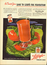 1944-Vintage ad for Libby's Tomato Juice`Glass Red Tomato Green (010115)