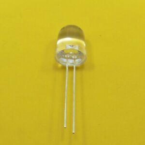 Ultra Bright Clear 10mm LED Orange Diode Light Emitter Round Top 2V Transparent