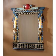 CL2558 - Wadjet Egyptian Wall Mirror w/Cobra Sconces - Ancient Egyptian Decor!