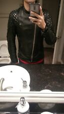 Vintage Cafe Racer Leather Jacket TT Leathers Style Brimaco Size 38 Small