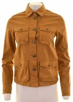 JACK WILLS Womens Denim Jacket UK 8 Small Brown Cotton  CX29
