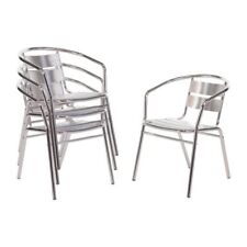 Lot de 4 Chaises aluminium Bolero BOLERO