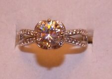 RARE COLORFUL SOLITAIRE  STRONTIUM TITANATE & ZIRCON  RING SIZE 7 WEDDING GIFT