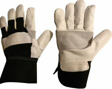 See OFFERS!!! Reinforced Leather Gloves Gardening Gardeners  Gloves - Large