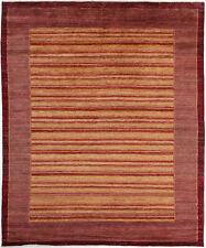 8X10 Hand-Knotted Gabbeh Carpet Tribal Red Fine Wool Area Rug D29353