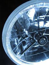"Street Hot Rod 7"" Tri Bar Clear Dot H4 Headlight w/ Clear LED Turn Signal 12v"