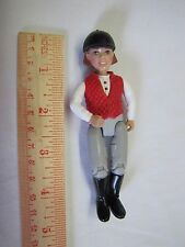 FISHER PRICE Loving Family Dollhouse HORSE ENGLISH-STYLE RIDER GIRL in Vest