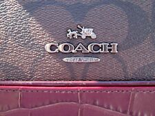 COACH Signature Exotic Mixed SIERRA Satchel Chocolate Oxblood Red F38246 NWT$480
