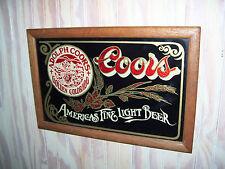 ADOLPH COORS GOLDEN COLORADO AMERICAS FINE LIGHT BEER BAR SIGN FRAMED IN WOOD