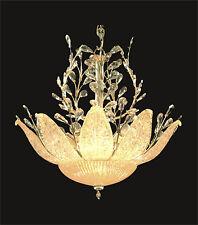 "Beautiful GOLD PENDANT +Murano Glass 12-Light Contemporary Ceiling D26"" x H25"""