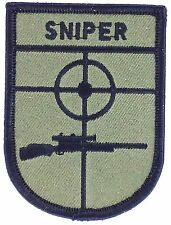 SNIPER AIRSOFT PATCH IRON ON EBROIDERED