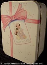 "Circa 1990 Precious Moments ""peace on earth"" Holiday Tin W/ Potpourri Spc113"