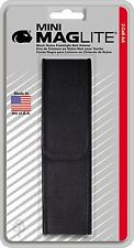 Mini Maglite 2xAA Nylon Black Belt Sheath NEW