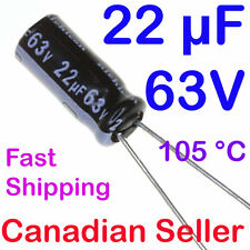 Conf 10 Electrolytic Capacitor 22mf 63v 105/'